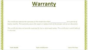 warranty template word warranty template or certificate product word alimie co