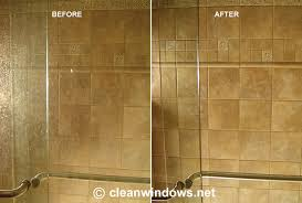 remove hard water stains on shower doors