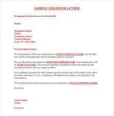 Job Offer Letter Template Word 70 Offer Letter Templates Pdf Doc Free Premium Templates