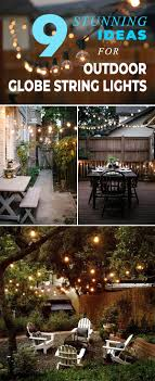 we purchased two strings of globe lights from target at less than 15 and strung them to our roof edge and back to the support poles for our shade sails