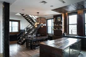 Masculine Interior Design Interesting Brutal Industrial Masculine Penthouse In New York DigsDigs