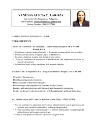 position applied for resumes vanessa laroza resume pdf