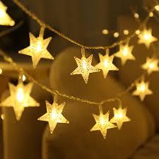 Outdoor Lighting Christmas Stars Us 9 97 30 Off Thrisdar Christmas Star String Light 20m 30m 50m 100m Star Garland Light Outdoor Wedding Party Festoon Starry Star Fairy Light In