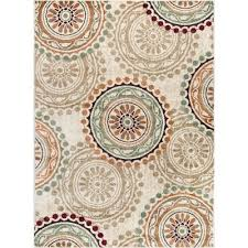 dco10115x8 5 x 7 medium ivory teal blue and red area rug deco