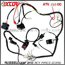 Plete electrics wiring harness atv quad 4 wheeler 200cc 250cc ignition coil cdi switch key rectifier in atv parts accessories from automobiles