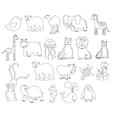 Small Picture s Black White Line Animal Art Coloring Sheet Colouring Page