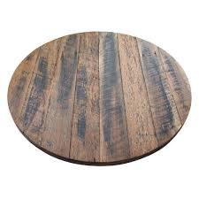 rustic recycled round wood table top table tops table parts commercial furniture apex