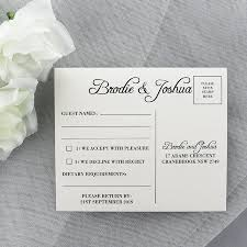 Response Cards Size Wedding Rsvp Postcard With Guest Names First