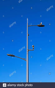 What Are The Cameras On Top Of Street Lights Cctv Cameras On Lamp Post Stock Photos Cctv Cameras On