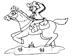 Small Picture Cowboy coloring pages riding horse ColoringStar