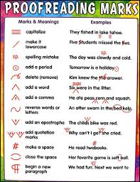 Proofreading Marks Chart 028747 Details Rainbow Resource