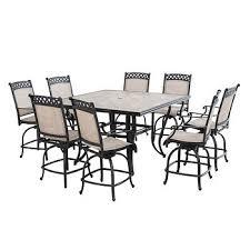 high dining outdoor tables. berkley jensen milan 9-pc. high dining set item: 79425 | model: l-dn1628sal-e outdoor tables