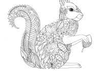 Squirrel Coloring Pages For Kids With Red Squirrel Coloring Page
