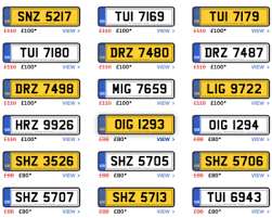 non dating number plates