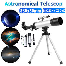 360x50mm refractor telescope for kids