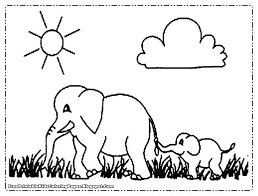 Baby Elephant Coloring Pages Baby Elephant Coloring Pages Of