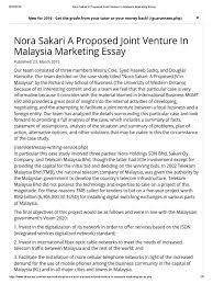 nora sakari a proposed joint venture in marketing essay nora sakari a proposed joint venture in marketing essay negotiation joint venture