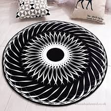 good thing carpet rug non slip sunrise fashion black and white circular carpet living room