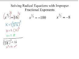 solving equations with improper