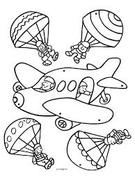 Kleurplaat Vliegtuig Mobiel Kleurplatennl