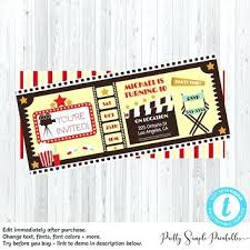 Movie Night Invitation Template Free Movie Night Birthday Invitations Movie Night Birthday Invitations