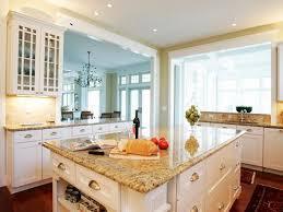 granite kitchen countertops with white cabinets. Interesting Granite Lovely White Cabinets With Yellow Granite Countertops Throughout Kitchen