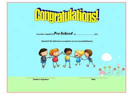 Editable Preschool Graduation Certificate Template Free 3