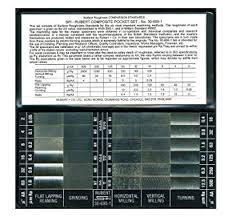 Flange Surface Finish Chart Rubert Surface Roughness Comparator Set