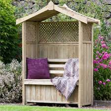 2 seater arbour storage bench