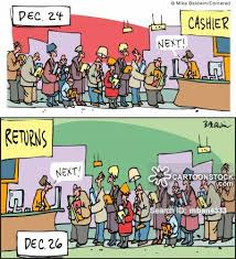 Gift Returns cartoon 2 of 4
