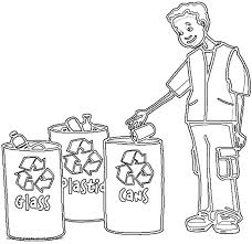 Small Picture Recycle bins coloring page