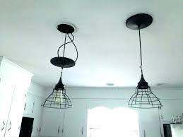 ceiling light conversion kit replace recessed with pendant how to convert can for lights square