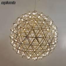 best ball pendant light gold chrome stainless steel firework modern hanging lighting for lobby shade fixture