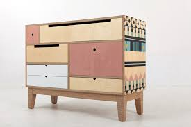 pattern furniture. Low Chest - Delicious Pink Plywood Base Pattern Furniture