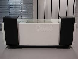 2016 customized black white front counters table reception desk photo details these image