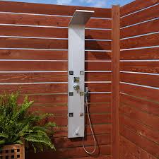 outdoor shower. Harlingen Six-Jet Outdoor Shower Panel With Hand