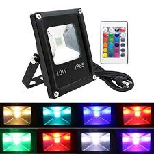 applique extÉrieure atian 10w rgb led outdoor flood light 16 colors ch