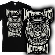 T Shirt Motorrad Unterschätze Niemals Einen Alten Mann Mit Motorrad