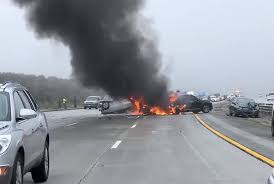 50 vehicles involved in crashes on highway north of Los Angeles ...