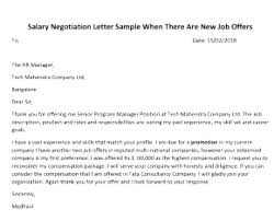 Sample Letter Salary Negotiation Accepting Job Offer After Savvy