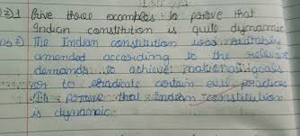 Give Three Examples To Prove That Indian Constitution Is Quite