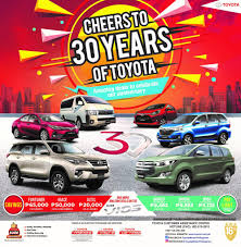 cheers to 30 years of toyota