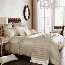 Bed Linen Decorating Comely White Bedroom With Luxury Bedding Also Crystal Chandelier