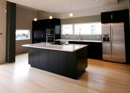 Types Of Kitchen Floors Kitchen Cool Black And White Nuance Combined With Bamboo Floors In