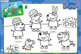 Coloriage Peppa Pig Et Ses Amis Printable Coloriage En Ligne