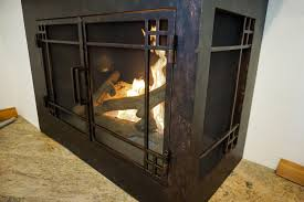 L-Shape Custom Fireplace Doors | Fireplace Door Guy