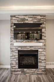 electric fireplace with white mantle coronado pro ledge huron stone enclosure