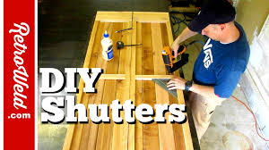 Diy Exterior Window Shutters Diy Exterior House Shutters How To Youtube