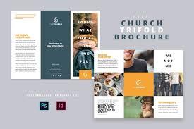 Modern Church Trifold Brochure Brochures Modern Church