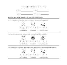 Printable Progress Reports For Elementary Students Student Daily Progress Report Template Weekly Behavior